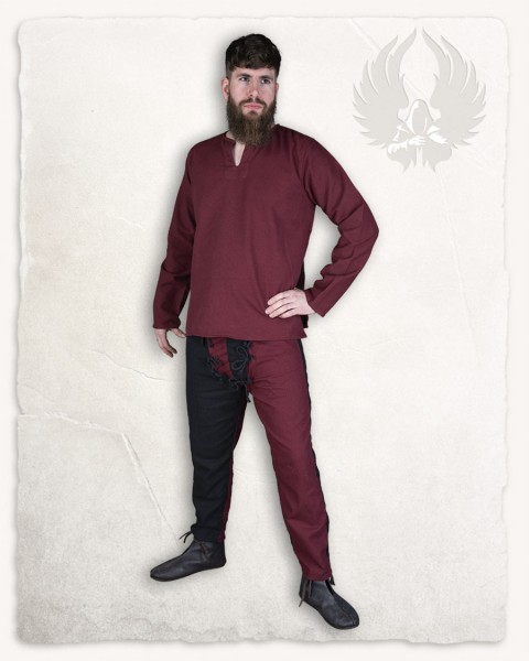 Rurik Hemd Canvas bordeaux
