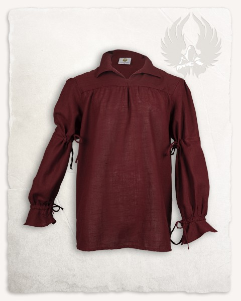 Tilly shirt linen bordeaux LIMITED EDITION