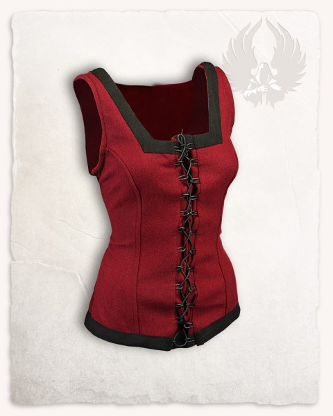 Ursula bodice wool bordeaux