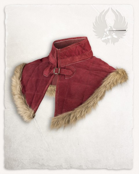 Nimue lined gorget suede bordeaux