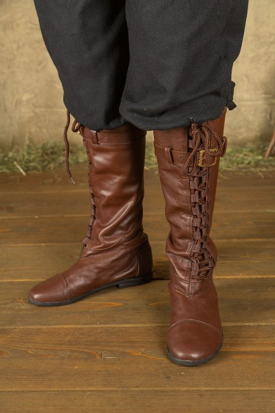 Taras lace-up boots cowhide leather brown