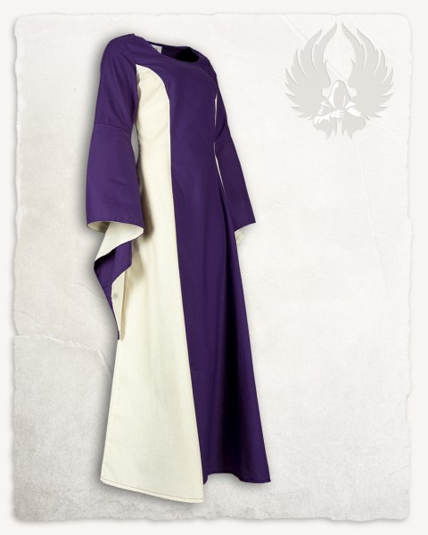 Stella dress cotton purple/cream Limited Edition
