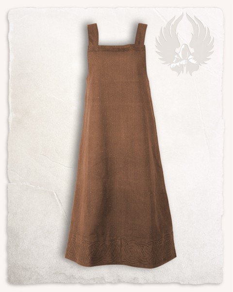 Alva apron dress brown