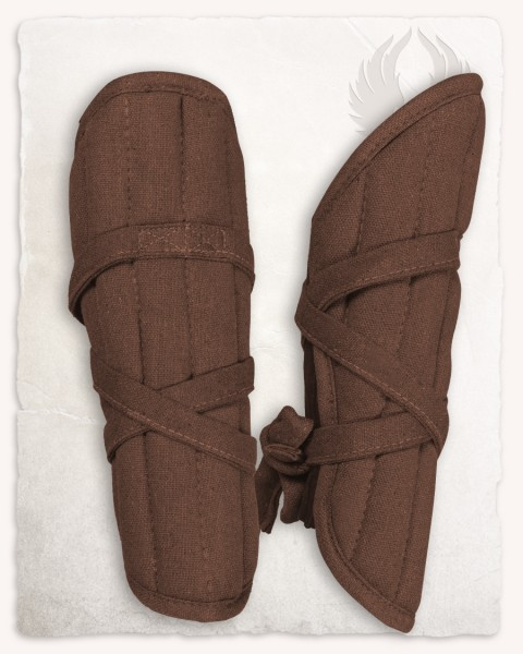 Farald padded bracers brown