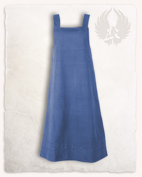 Alva apron dress blue
