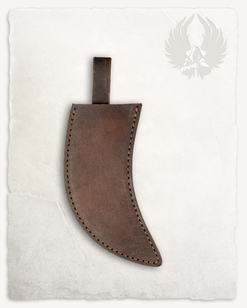 Anselm herbs knife leather sheath brown