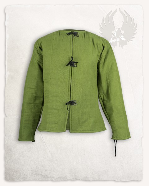 Aulber gambeson jacket linen moss green LIMITED EDITION
