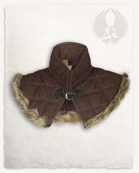 Nimue lined gorget wool brown
