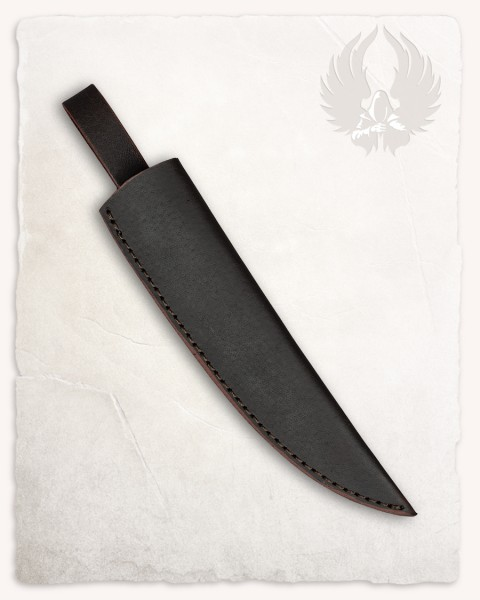 Anselm cooking knife leather sheath brown