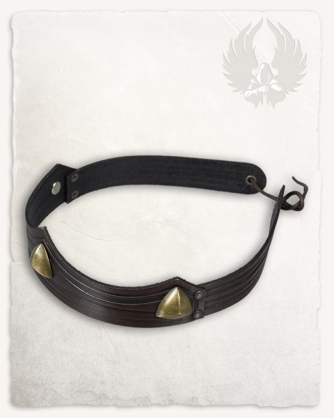 Isidor studded crown triangolar brown