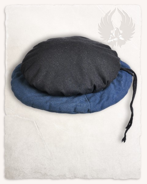 Tudor beret canvas black/blue