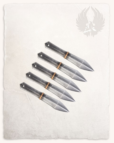 Silas throwing dagger deluxe, set of 5