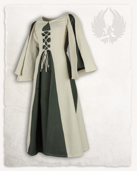 Kirian girls`dress cream/green 168