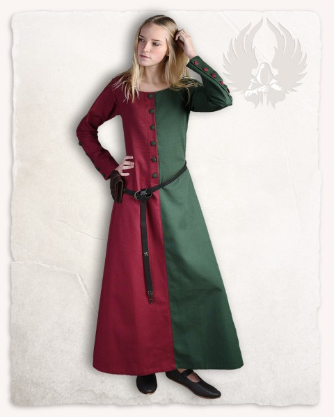 Helena dress bordeaux/dark green