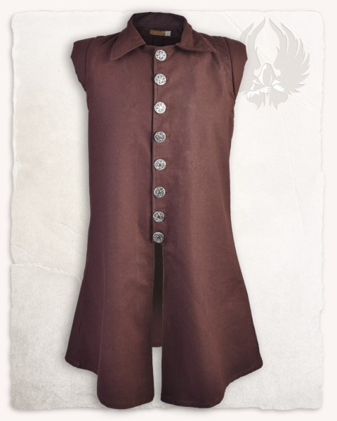 Tilly vest premium cotton brown