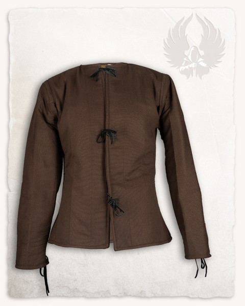 Aulber gambeson jacket canvas brown
