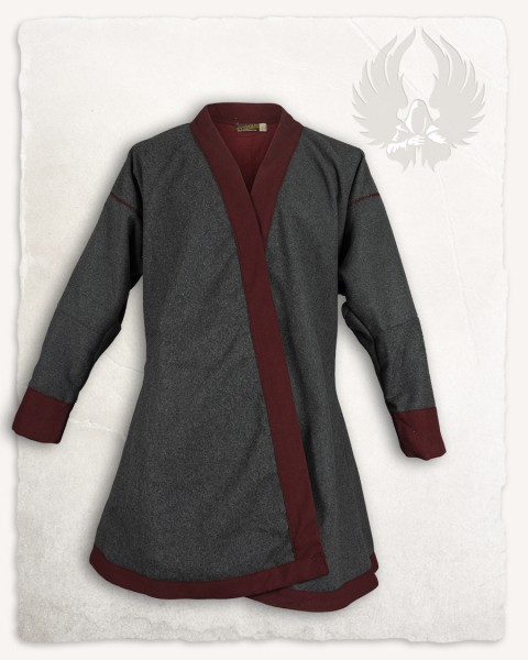 Rasoul double breasted tunic wool grey