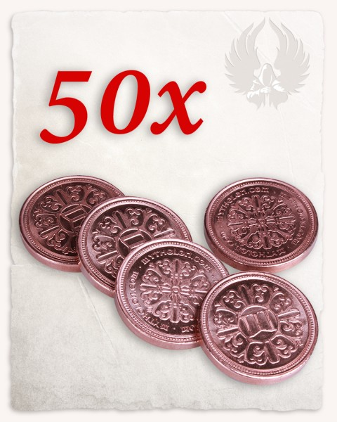 Set da 50 monete da LARP color rame