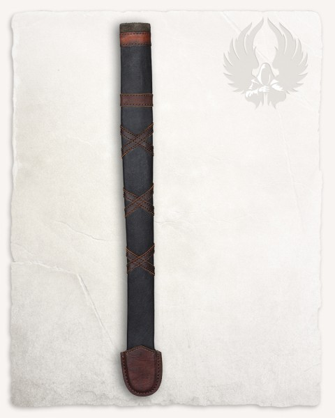 Special size Leon sword scabbard short black/brown