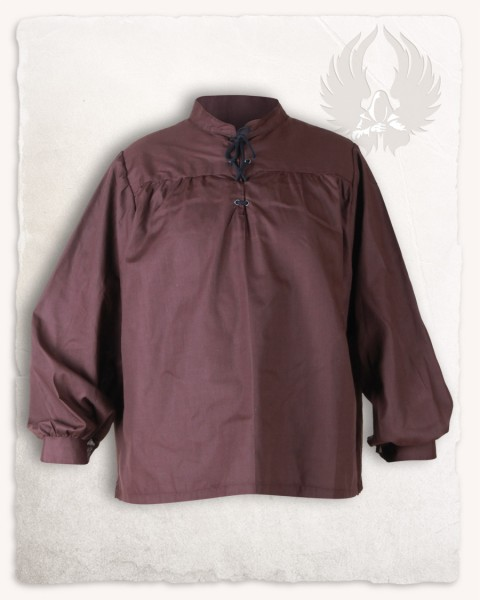 Roland shirt cotton brown discontinued
