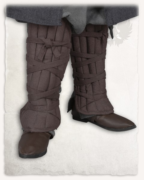 Farald padded greaves brown