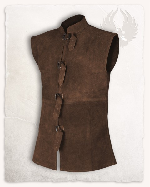 Orthello suede vest brown