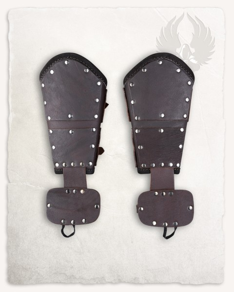 Quintus bracers upper leather brown