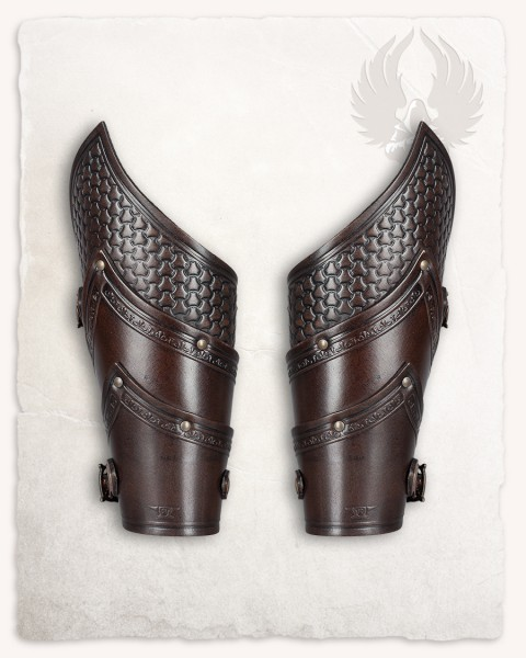 Alistair deluxe bracers brown