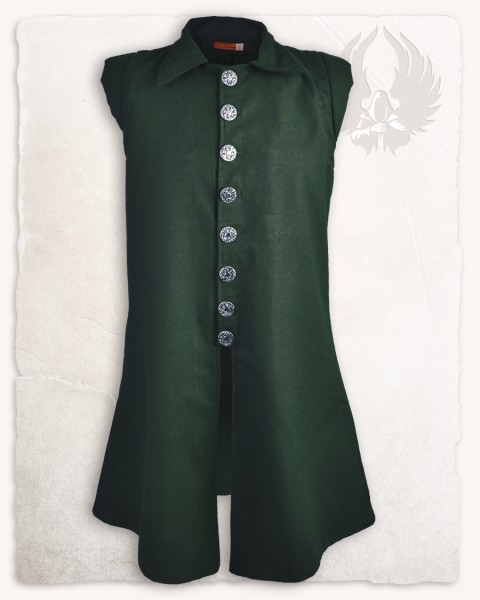 Tilly vest premium cotton green
