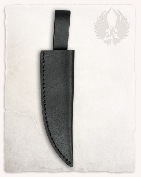 Serena knife leather sheath black