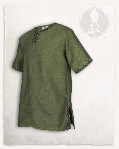 Sigbert tunic herringbone green Limited Edition