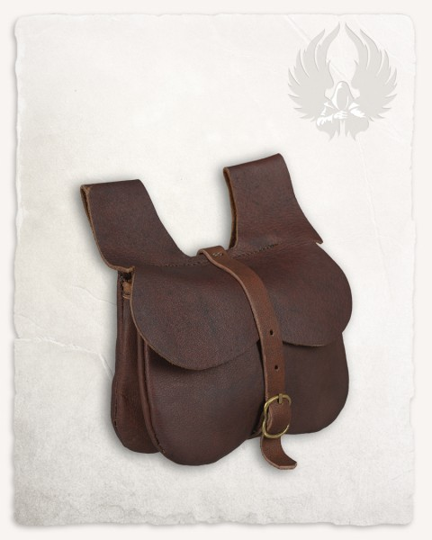 Calvert kidney-shaped belt bag large brown