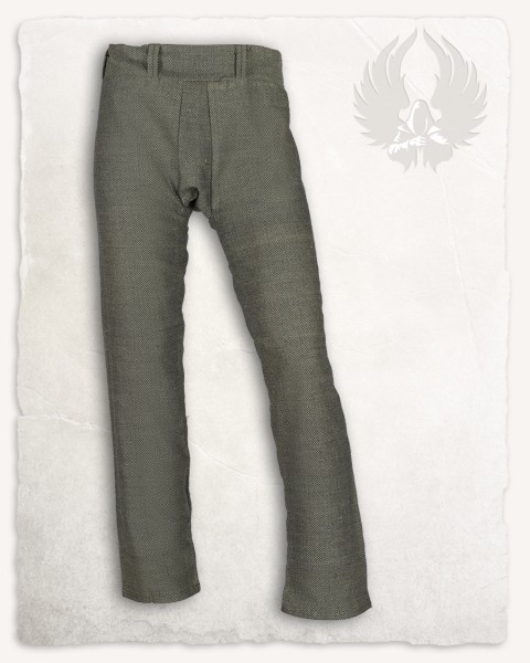 Ranulf Thorsberg trousers herringbone olive-green Limited Edition