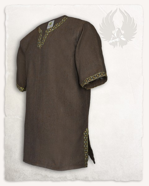 Sigbert tunic herringbone brown Limited Edition