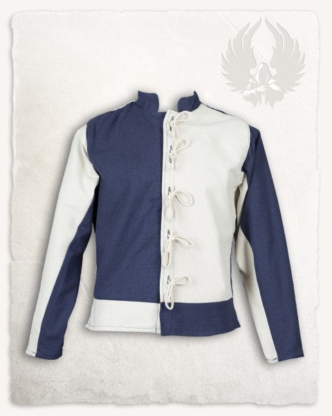 Gustav jacket canvas blue/cream LIMITED EDITION