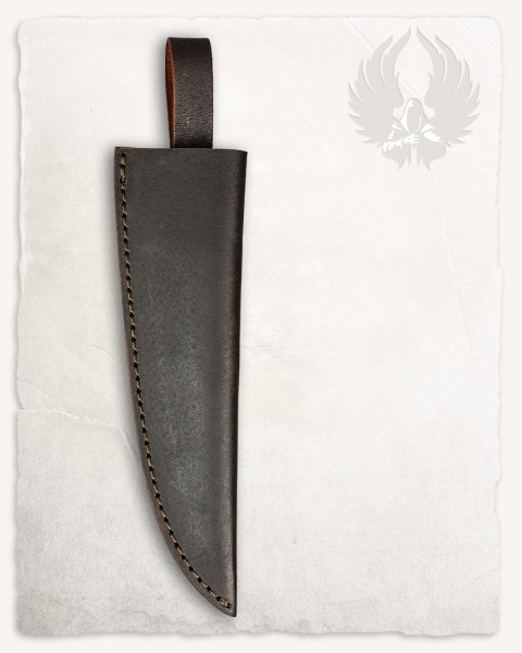 Will damascus knife leather sheath brown