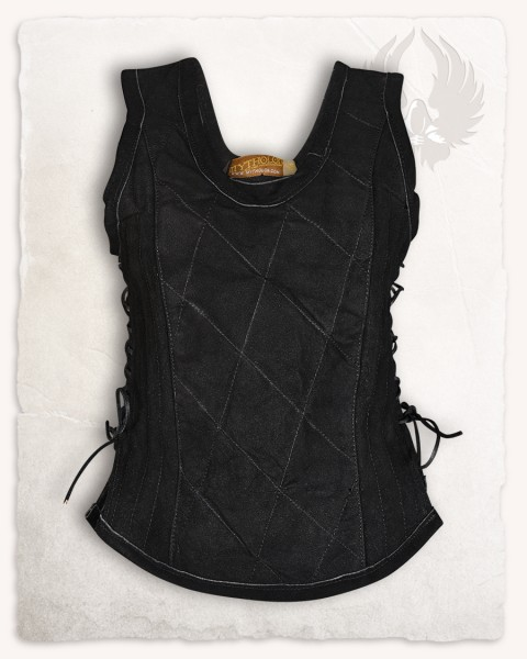 Lucy leather bodice black