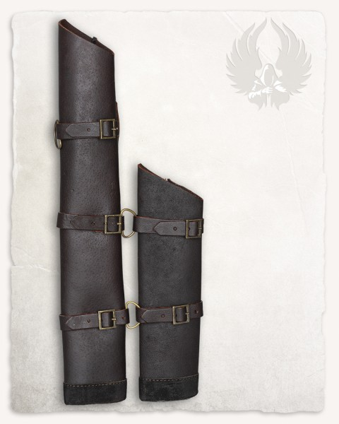 Special Size Raban double scabbard consists of two scabbards brown