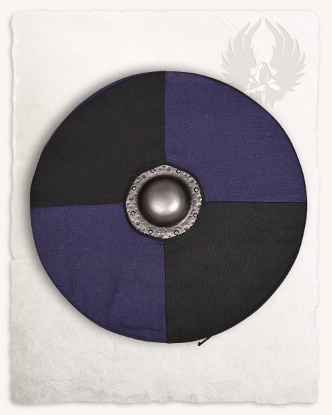 Rorrik round shield with shieldcover black/blue