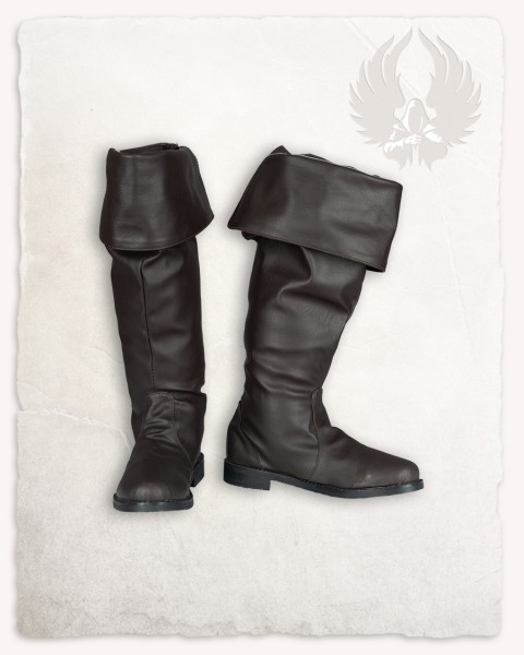Prescott turn-down boots brown
