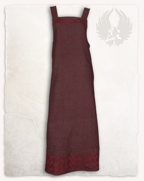 Alva apron dress herringbone bordeaux Limited Edition