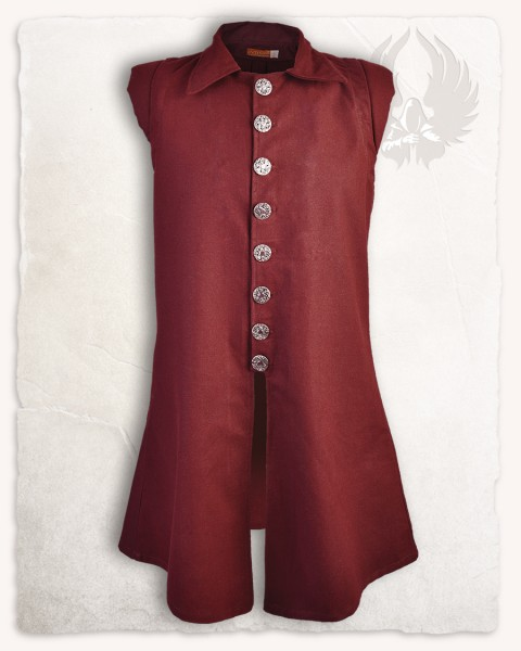 Tilly vest premium cotton bordeaux