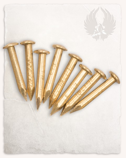 Tinne brass pins 8 pcs.