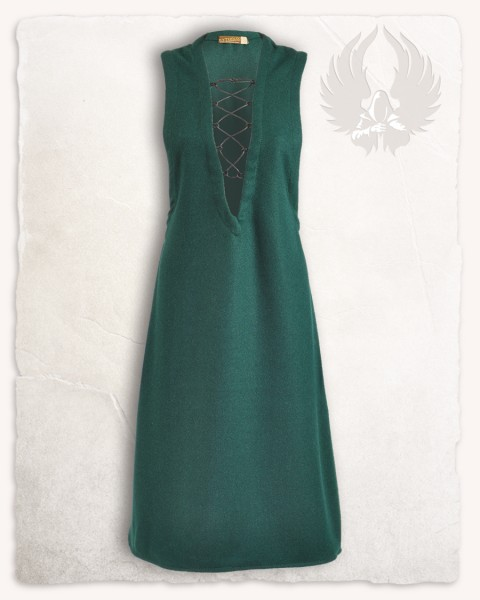 Lenora sleeveless tunic wool green