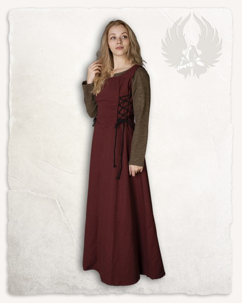Dress set Maid Uma burgundy/light brown