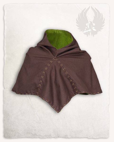 Halaif hood premium cotton canvas brown/moss green