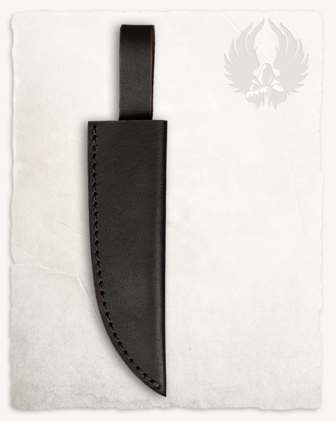 Ram knife leather sheath brown