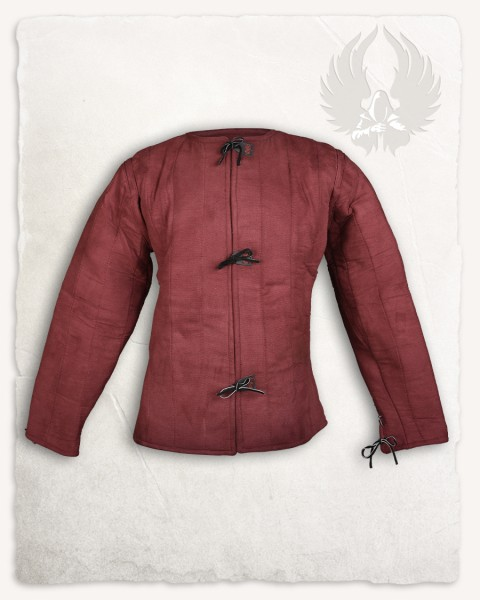 Aulber gambeson jacket canvas burgundy LIMITED EDITION