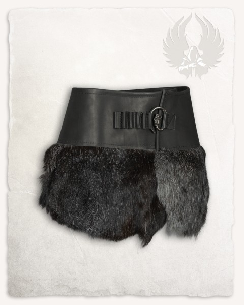 Karya fur skirt with hook black