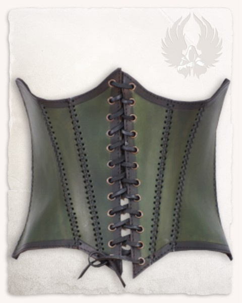 Dunja underbust bodice green LIMITED EDITION